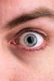Nahaufnahme des menschlichen Auges, Makrobild des Gesichtes Lizenzfreies Stockbild