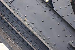 Nahaufnahme des Metallaufbaus Stockfotos