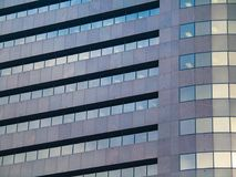 Nahaufnahme des modernen Bürogebäudes Stockbild