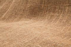 Nahaufnahme des natürlichen Leinwandsackzeugrausschmisses Hintergrundbeschaffenheit u Stockfoto