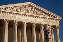 Nahaufnahme des Obersten Gerichts der USA von Details Lizenzfreie Stockfotografie