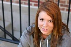 Nahaufnahme des redheaded Mädchens Stockbilder