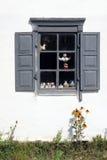 Nahaufnahme des rustikalen Fensters Stockfoto