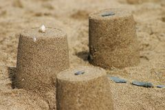 Nahaufnahme des Sandschlosses Stockfoto