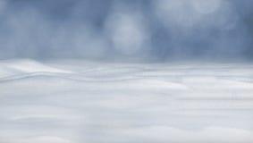 Nahaufnahme des sauberen flaumigen Schnees Stockbilder