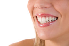 Nahaufnahme des schönen Lächelns lizenzfreies stockbild