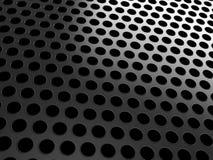 Nahaufnahme des schwarzen Grills auf Schwarzem Lizenzfreies Stockfoto