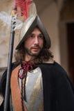 Nahaufnahme des Teilnehmers die mittelalterliche Kostümpartei Lizenzfreie Stockfotos
