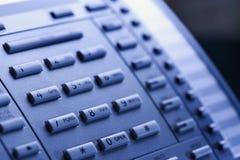 Nahaufnahme des Telefontastaturblocks. Stockbilder