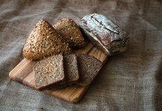 Nahaufnahme des traditionellen Brotes. Gesundes Lebensmittel. Stockfoto