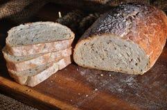 Nahaufnahme des traditionellen selbst gemachten Brotes Lizenzfreies Stockbild