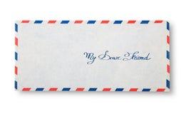 Nahaufnahme des Umschlags (mein lieber Freund) Lizenzfreies Stockbild
