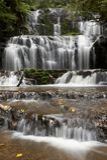 Nahaufnahme des Wasserfalls Stockfotos