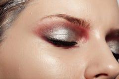 Nahaufnahme des weiblichen Auges Lizenzfreie Stockfotografie