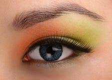 Nahaufnahme des weiblichen Auges lizenzfreies stockfoto