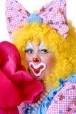 Nahaufnahme des weiblichen Clowns Stockfotos