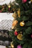 Nahaufnahme des Weihnachtsbaums Stockfotografie