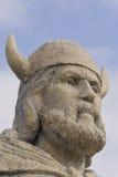 Nahaufnahme des Wikinger-Statuenkopfes Lizenzfreies Stockbild