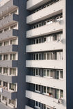 Nahaufnahme des Wohngebäudes Stockfotos