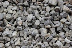 Nahaufnahme des zerquetschten Steins Stockfotografie