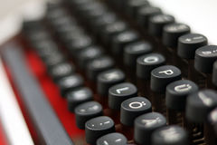 Nahaufnahme/Detail von einer Weinleseschreibmaschine Stockfoto
