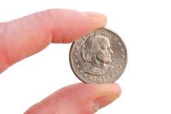 Nahaufnahme Dollars des Susan-B. Anthony Lizenzfreies Stockfoto
