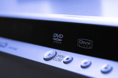 Nahaufnahme-DVD-Spieler Stockfotos