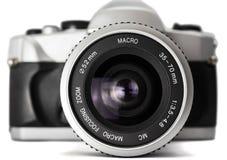 Nahaufnahme einer analogen Kamera Stockfoto