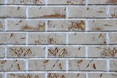 Nahaufnahme einer dekorativen Backsteinmauer Stockbilder
