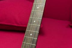 Nahaufnahme einer Gitarre Stockbilder