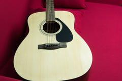 Nahaufnahme einer Gitarre Stockbild