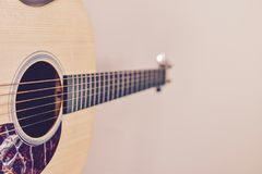 Nahaufnahme einer Gitarre Lizenzfreie Stockbilder