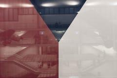 Nahaufnahme einer großen tschechischen Flagge lizenzfreie stockbilder