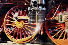 Nahaufnahme einer Luftpumpe und der Räder eines Dampfers lizenzfreie stockbilder