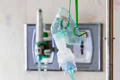 Nahaufnahme einer medizinischen Sauerstoffmaske Stockbild