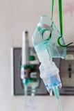 Nahaufnahme einer medizinischen Sauerstoffmaske Stockfotografie
