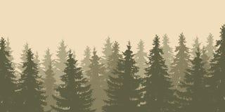 Nahaufnahme einer Vektorillustration der Waldwipfel lizenzfreie abbildung