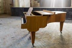 Nahaufnahme eines alten Klaviers Stockfotografie