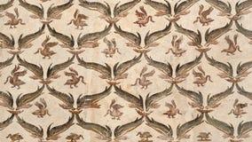 Nahaufnahme eines alten römischen Mosaiks Stockbild