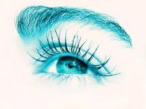 Nahaufnahme eines Auges Stockfoto