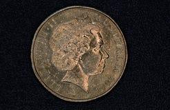 Nahaufnahme eines Australiers 1-Dollar-Münze Stockbild