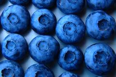 Nahaufnahme eines Bündels frischer und empfindlicher Blaubeeren Lizenzfreie Stockfotografie