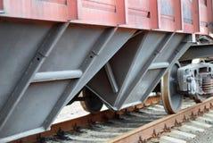 Nahaufnahme eines Eisenbahnladungwagens lizenzfreies stockbild