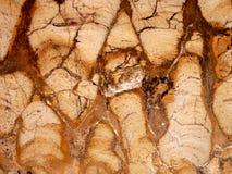Nahaufnahme eines Felsens, der poliert wird, um Beschaffenheitshintergrundspur des Grand Canyon der Zeit zu zeigen bildet Dreieck stockfotografie