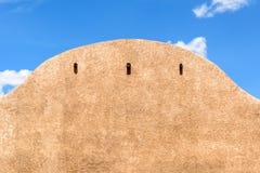 Nahaufnahme eines Gebäudes des luftgetrockneten Ziegelsteines Lizenzfreies Stockbild