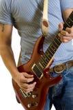 Nahaufnahme eines Gitarristen Stockbilder