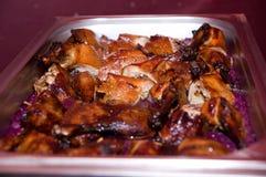 Nahaufnahme eines köstlichen gebratenen gekochten geschnittenen Fleisches Lizenzfreie Stockfotografie