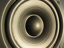 Nahaufnahme eines Lautsprecherelements Stockfotos