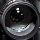 Nahaufnahme eines m42, 200mm Linse stockfotografie