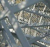 Nahaufnahme eines Metalltreppenhauses Lizenzfreies Stockbild